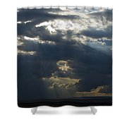 Crepuscular Rays Shower Curtain