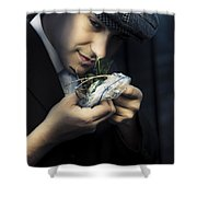 Criminal With Weeds And Green Grass Shower Curtain