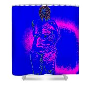 Croquis In Blue Shower Curtain