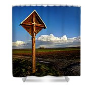 Cross Shower Curtain
