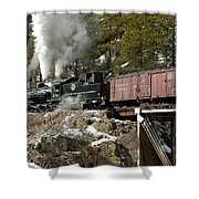Crossing The High Bridge Shower Curtain