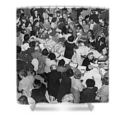 Crowds In Ohrbach's Store Shower Curtain