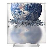 Crumbling Earth Shower Curtain