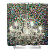 Crystal Chandelier Shower Curtain