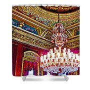 Crystal Chandelier In Dolmabache Palace In Istanbul-turkey  Shower Curtain