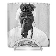 Cuban Lady Shower Curtain