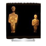 Cycladic Figurines Shower Curtain