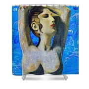 Cyprus Map And Aphrodite Shower Curtain
