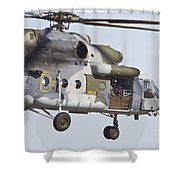 Czech Air Force Mi-171 Hip Helicopter Shower Curtain