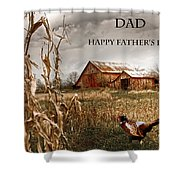 Dad Happy Father's Day Shower Curtain