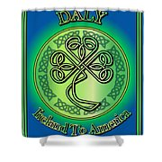 Daly Ireland To America Shower Curtain
