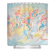 Dance Of Olive Trees Shower Curtain