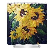 Dancing Sunflowers  Shower Curtain