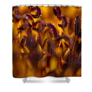 Bordeaux Red Stamens Shower Curtain