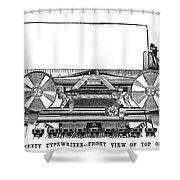 Daugherty Typewriter, 1895 Shower Curtain