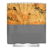 Dawn At Bridge Mountain Shower Curtain