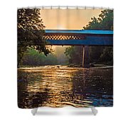 Dawn At Swann Bridge Shower Curtain