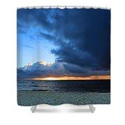 Dawn Over The Ocean Shower Curtain