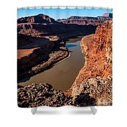 Dead Horse Point Colorado River Bend Shower Curtain