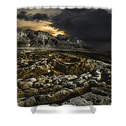 Dead Sea Sink Holes Shower Curtain