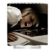 Deadly Duplications Shower Curtain