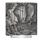 Death Of Samson Shower Curtain by Gustave Dore