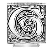 Decorative Initial G Shower Curtain