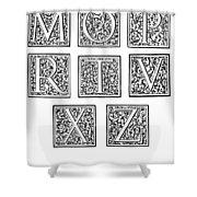 Decorative Initials, C1600 Shower Curtain