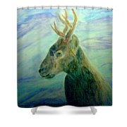 Deer At Home Shower Curtain