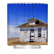 Defunct One Room Country School Building Shower Curtain
