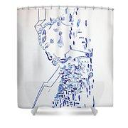 Deity - Nhialic - South Sudan Shower Curtain