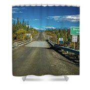 Denali Highway, Route 8, Bridge Crosses Shower Curtain