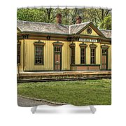 Chester Park Train Depot Shower Curtain