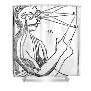 Descartes: Pineal Gland Shower Curtain