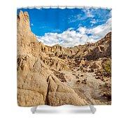 Desert And Blue Sky Shower Curtain