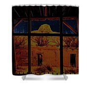 Desert Trail Homage 1936 Cabezon Peak Ghost Town Cabezon New Mexico 1971 Shower Curtain