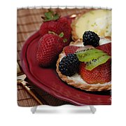 Dessert Tarts Shower Curtain