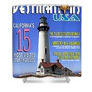 Destinations Usa Faux Magazine Cover Shower Curtain
