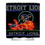 Detroit Lions Football Shower Curtain