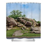 Devil's Den Pan Shower Curtain