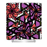 Digi-flora Shower Curtain