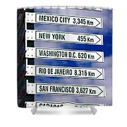 Direction Signs Shower Curtain