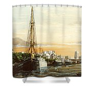 Discovery On The Banks Of The River Thames London Shower Curtain