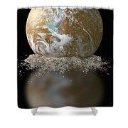 Dissolving Earth Shower Curtain
