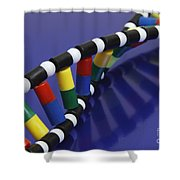 Dna Double Helix Shower Curtain