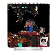 Doc Holliday Teaching Faro Crystal Palace Saloon Tombstone Arizona 2004  Shower Curtain