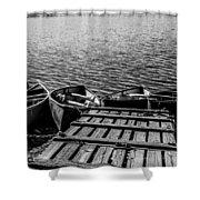 Dock At Island Lake Shower Curtain