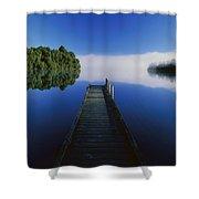 Dock On Lake Mapourika Shower Curtain