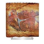 Dodge In Rust Shower Curtain