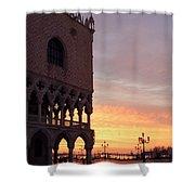 Doges Palace At Sunrise Venice Italy Shower Curtain